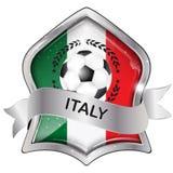 Italy football elegant shiny icon Royalty Free Stock Photo