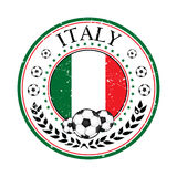Italy football label / sticker Royalty Free Stock Photography
