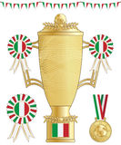 Italy football trophy Royalty Free Stock Photo