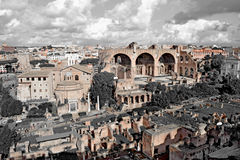Italy. Forum, Rome, Italy - November 2016: The view from the top on the Forum stock photos