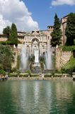 Italy. Fountain on Villa de Este in Tivoli Royalty Free Stock Photos