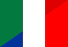Italy france flag Royalty Free Stock Image