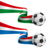 Italy and france flag. With soccer ball royalty free illustration