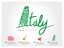 Italy freehand Royalty Free Stock Image