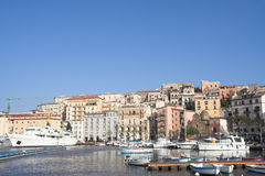 Italy - gaeta - historical city and harbour stock photos
