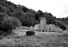 Italy giant tomb BW Royalty Free Stock Photo