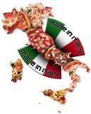 italy gjorde pizza arkivfoto