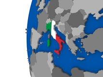Italy on globe Royalty Free Stock Image