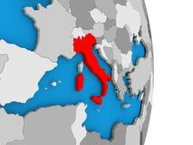 Italy on globe Stock Image