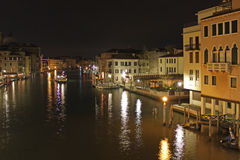 Italy. Grand canal at night. Venice Building Landscape Picture Stock Images