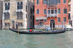 Italy. Grand canal. Venice Building and Gondola Stock Photography