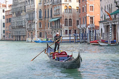 Italy. Grand canal. Venice Building and Gondola Royalty Free Stock Images