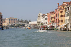 Italy. Grand canal. Venice Buildings. Boats Royalty Free Stock Images