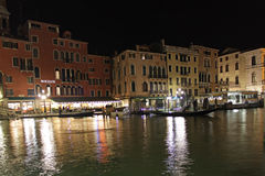 Italy. Grand canal. Venice Buildings. Boats Royalty Free Stock Image