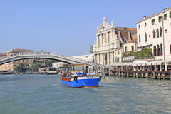 Italy. Grand canal. Venice Buildings. Boats Royalty Free Stock Photos