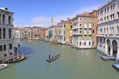 Italy. Grand canal. Venice Buildings and Gondola Royalty Free Stock Photo