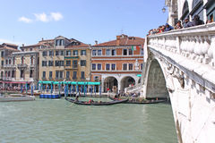 Italy. Grand canal. Venice Buildings and Gondola Royalty Free Stock Image