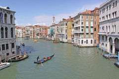 Italy. Grand canal. Venice Buildings and Gondola Royalty Free Stock Images