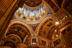 Italy is in a great cathedral interior Royalty Free Stock Images