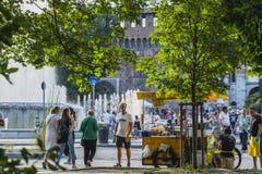 italy grodowy sforza Milan Zdjęcie Royalty Free