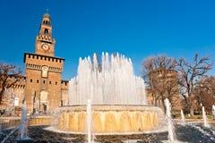 italy grodowy sforza Milan s Zdjęcie Royalty Free