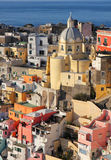 Italy. Gulf of Naples. Procida island. Colorful houses of Corric Stock Images