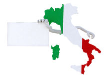 Italy with hands and banner Stock Photo