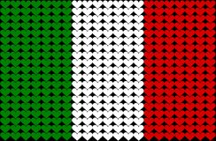 Italy heart flag Stock Photography