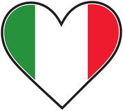 Italy Heart Flag Stock Images