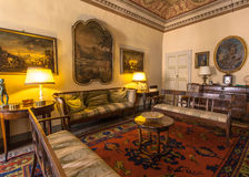 Italy, Historic Tuscany Style Living Room in a Museum in Volterra royalty free stock photos