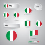 Italy icon set of flags Stock Photography