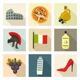 Italy icon set. Vector Illustration Royalty Free Stock Images