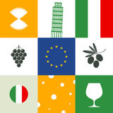 Italy. Icon set Royalty Free Stock Photography