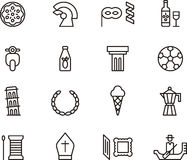 Italy icons Stock Image