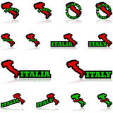 Italy icons Royalty Free Stock Images