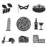 Italy icons set Stock Images