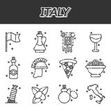 Italy icons set Royalty Free Stock Images
