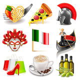 Italy icons vector set Royalty Free Stock Photography