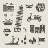 Italy icons Stock Photography