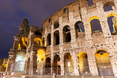 Italy Illuminated Colosseum at night Royalty Free Stock Image