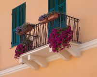 Balcony with flowers Royalty Free Stock Images