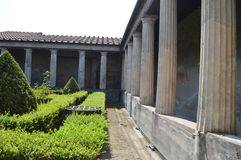 Italy .Interior of residence in Pompeii. An interior view of a residence in the famous city of Pompeii Stock Photo