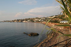 Italy. Island Ischia. Beach of thermal park  Royalty Free Stock Photo