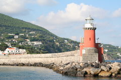 Italy. Island Ischia. Beacon Stock Image
