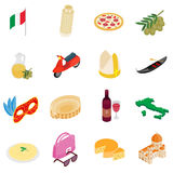 Italy isometric 3d icons Royalty Free Stock Photography