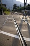 italy järnvägspår Fotografering för Bildbyråer