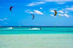 italy kitesurfing obrazy royalty free