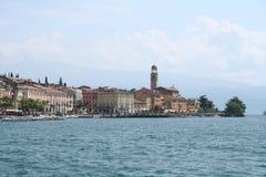 Italy. Lake Garda. Salo town. Italy. Lake Garda. Quay of Salo town stock images