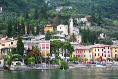 Italy. Lake Garda. Small town. On the coast royalty free stock image