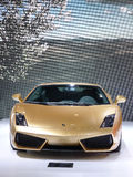 Italy Lamborghini gallardo lp 560-4 golden Royalty Free Stock Images
